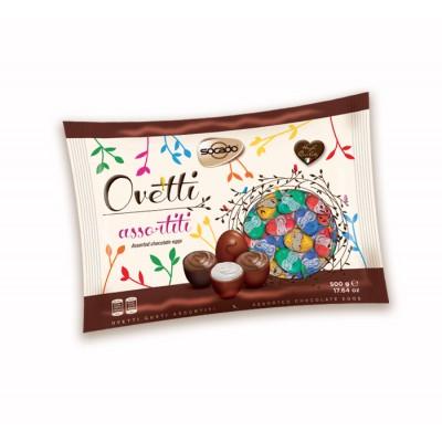 Шоколадные яйца Socado Ovetti Assortiti di Cioccolato 1кг.