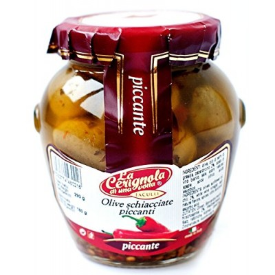 Оливки La Сerignola Olive schiacciate piccanti