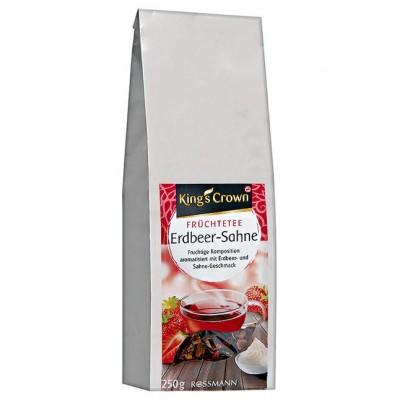Чай King's Crown Früchtetee Erdbeer-Sahne