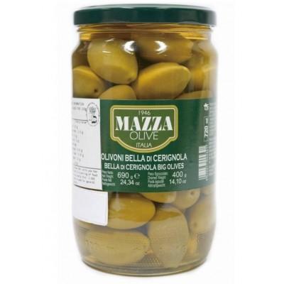 Оливки Гигантские Olive Verdi Bella di Cerignola Mazza 720мл.