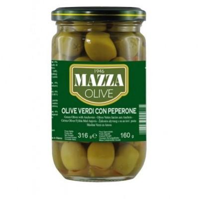 Оливки Olive Verdi con Peperone Mazza