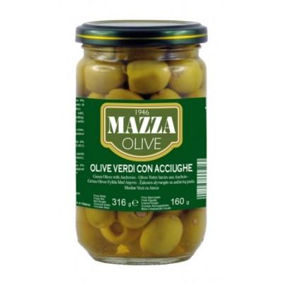 Оливки Olive Verdi con Acciughe Mazza