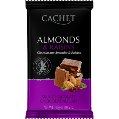 Шоколад Cachet Chocolat au Lait aux Amandes Raisens