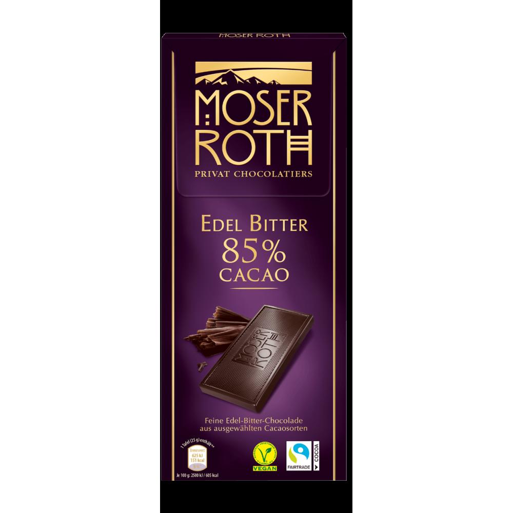 Шоколад Moser Roth Edel Bitter 85% Cacao