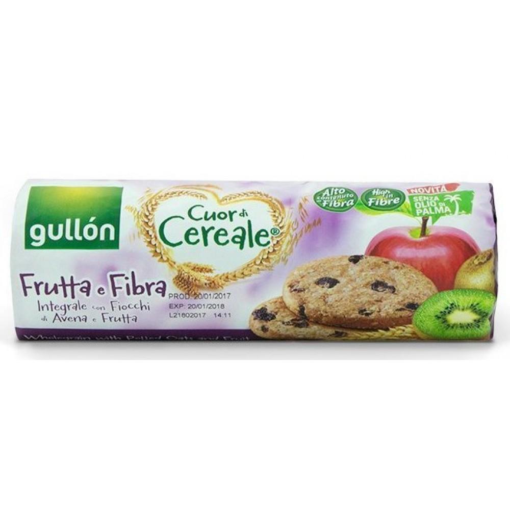 Печенье Gullón Cuor di Cereale Frutta е Fibra Integrale con Fiocchi di Avena e Frutta