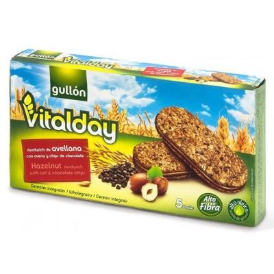 Печенье Gullón Vitalday Sandwich de Avelana con Chips de Chocolate (кр.)