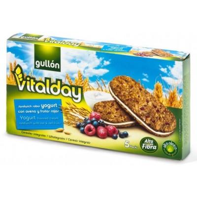 Печенье Gullón Vitalday Sandwich Sabor Yogurt con Avena y Frutas Rojos (син.)