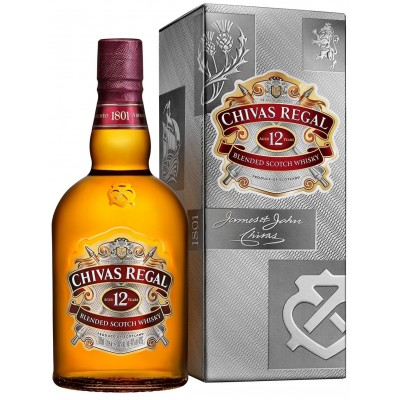 Chivas Regal 12 years old with box 1л.